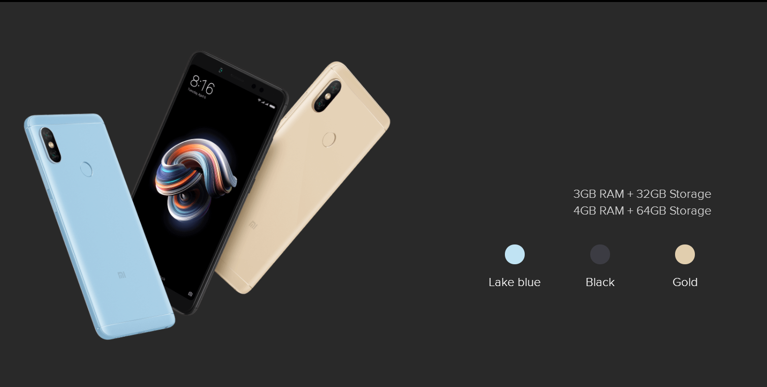 Original Xiaomi Redmi Note 5  32GB/64G RAM Octa Core 5.99 Smartphone 4000mAh  Core Full Screen
