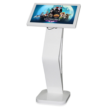 "Floor standing 22"" slim touch screen kiosk for restaurant menu"