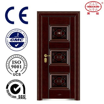 Cheap Security Copper Imitated Stainless Steel Door Design