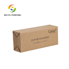 Custom brown kraft sunglass paper box