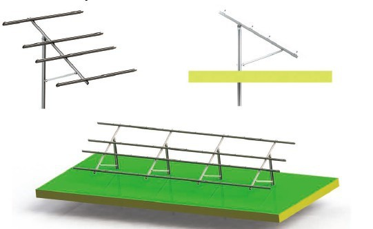 solar panel bracket mounting for single stand, power pole support, pole mount solar racking