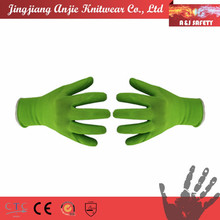 Bamboo fiber foam latex garden gloves
