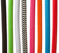 High quality colorful fabric cables 2cores/3 cores wires electrial power wire