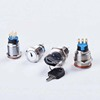 19MM Brass chrome Key Metal Waterproof brass 2 position 1NO 1NC 3 position 2NO 2NC Push Button Switch Button press button