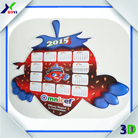 Customized embossed wall calendar