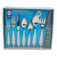 50pc DOR BEAUMONTE STAINLESS STEEL FLATWARE