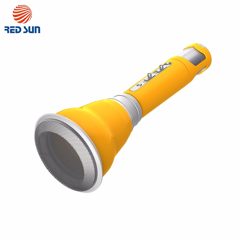 Mini Yellow Wireless Bluetooth Karaoke Speaker Handheld Microphone
