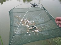Mesh Crab Trap Baits Cast Umbrella Dip Net