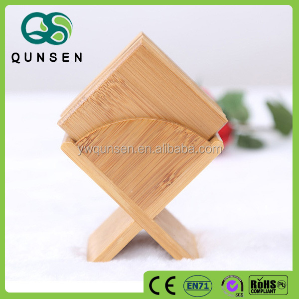 tea cup set protector coaster holder bamboo coaster set