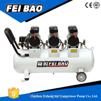 220Vsilent piston oil free best quality gas source air compressor