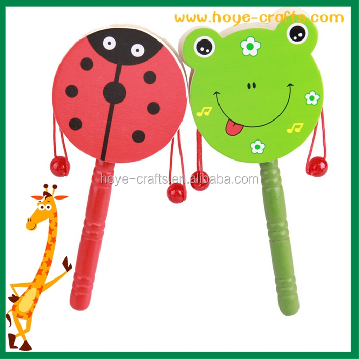 wholesale baby wooden rattle drum