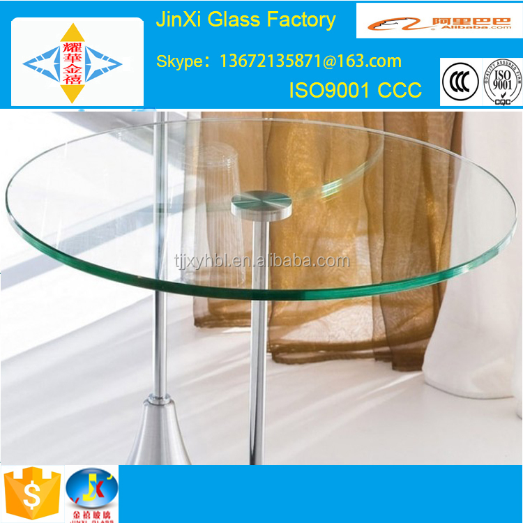 round sheet glass for dining table top