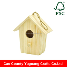 YG factory cheap new design wooden bird house