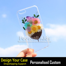 Custom for iPhone case printing For iphone 6 phone cover,transparent flowers printing for iphone case