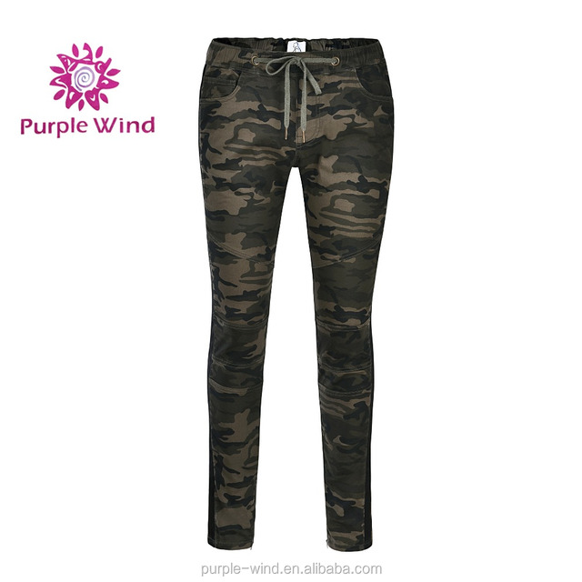 New arrival women's camouflage skinny jeans pants elastic waist