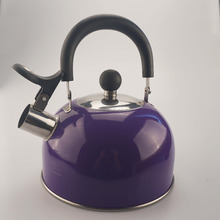 1.8L stainless tea kettle nylon handle with full color coating on body
