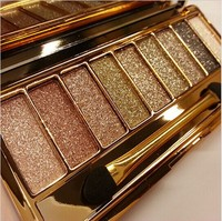 Fashion 9 colors eyeshadow palette women diamoning colorful makeup eye shadow flash Glitter make up set with brush