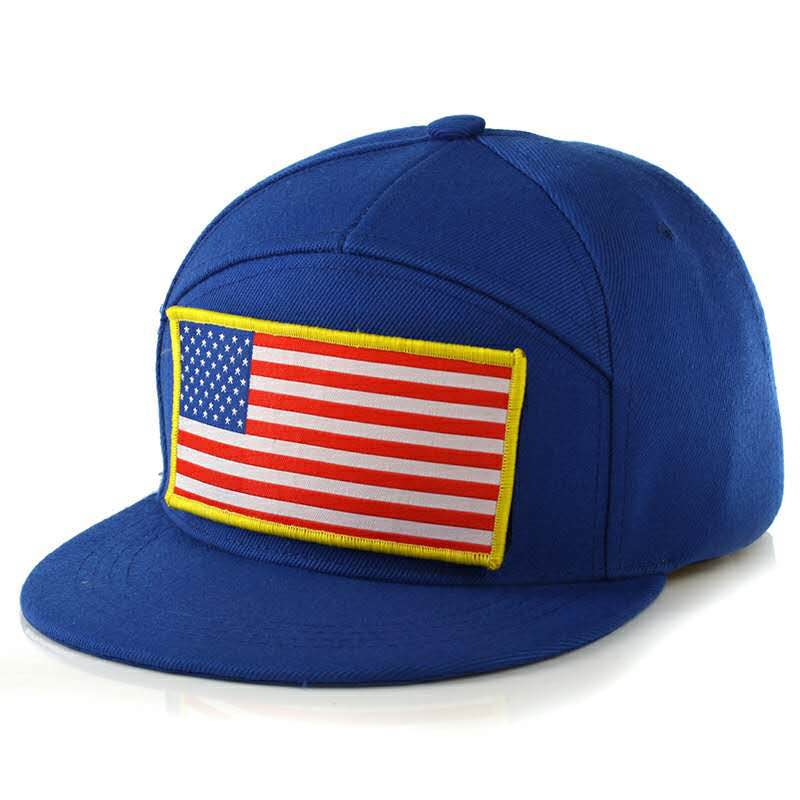 Unique american flag removable logo snapback hat Two color 100% acrylic hip hop snapback hat