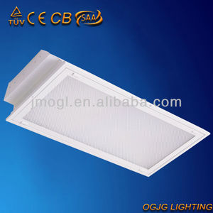 warehouse recessed T8 light fittings office diffuser led ceiling grille lamp