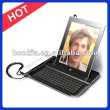 Factory Price Aluminum SKYPE Wireless Keyboard with Telephone for ipad