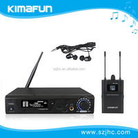 Hot selling True Diversity wireless in ear monitor system with microphone KM-100M