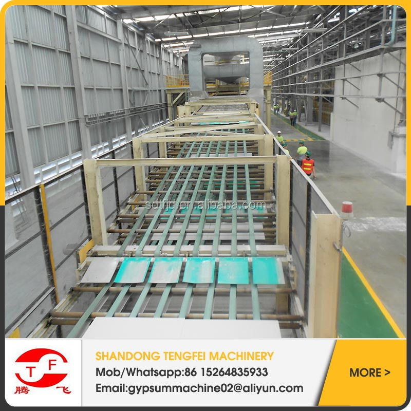 paper surface drywall making machine/decorative gypsum wall board production line