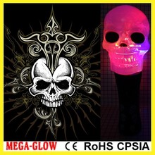19cm custom logo LED Flashing spinning halloween skull