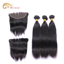 Afro Straight Wave Bohemian Remy Human Hair Extension Remy Hair Color 613 Peruvian Braiding Hair