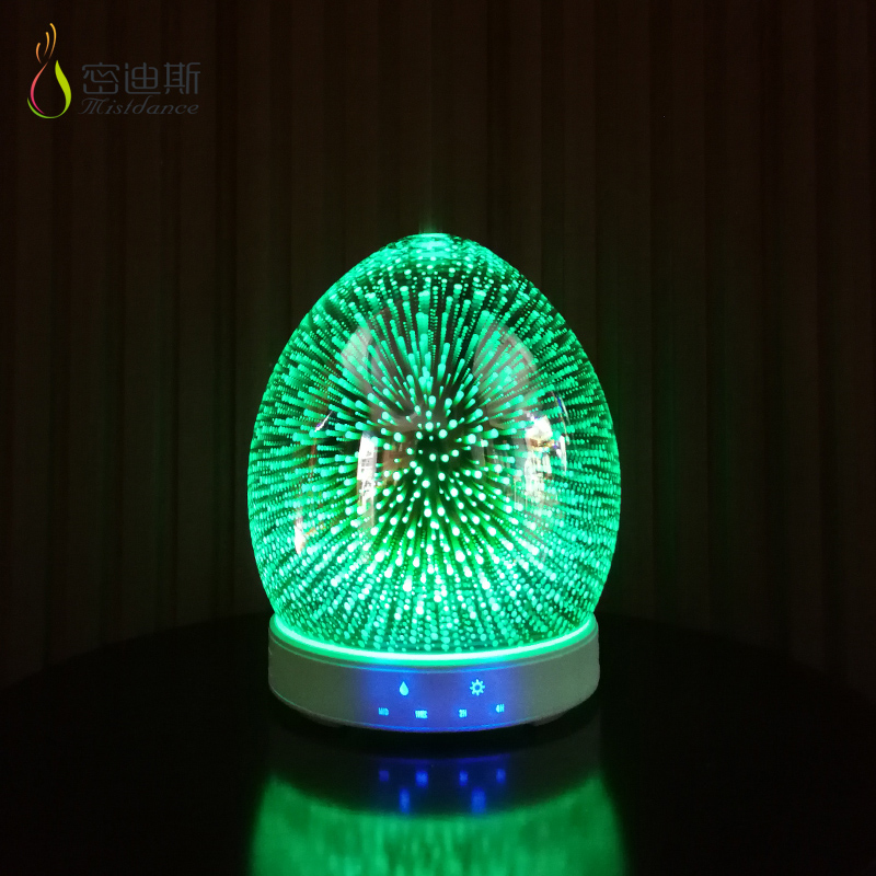 2019 trending products 3d led gala magic light glass ultrasonic atomizing air humidifier wired essential oil aroma diffuser