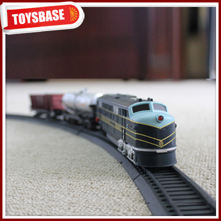 Kids Funny B/O Battery Operated 1:87 Plastic Classic Railway Electric Locomotive model kids electric ho scale model train lights