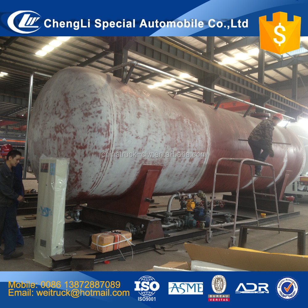 factory selling customized 5 m3 to 120 m3 skid lpg tank, skid mounted lpg filling station plant