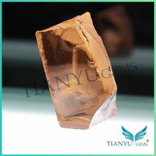 Best price wholesale synthetic nanosital rough morganite peach color