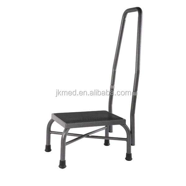 metal foot stool safety step ladders with handrail