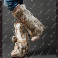 SJ090-01 Winter Fashion Fur Woman Hosiery