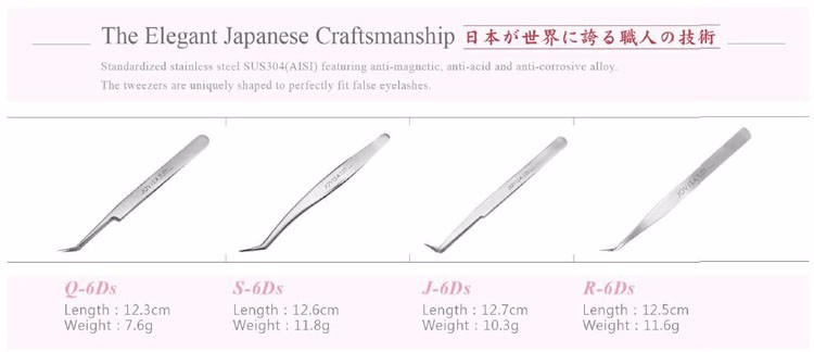 JOVISA Q-6DS Japan 6d eyelash extension volume tweezers