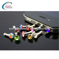 Bling Anti Dust Proof Ear Cap Plug Charm Stopper For iPhone 4/4s/5