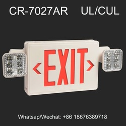UL 924 Listed Self Luminous Twin Spot LED Emergency Exit Sign
