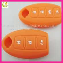 100% non-toxic quality and factory price silicone car key case shell for nissan key case auto remote key/transponder key casing
