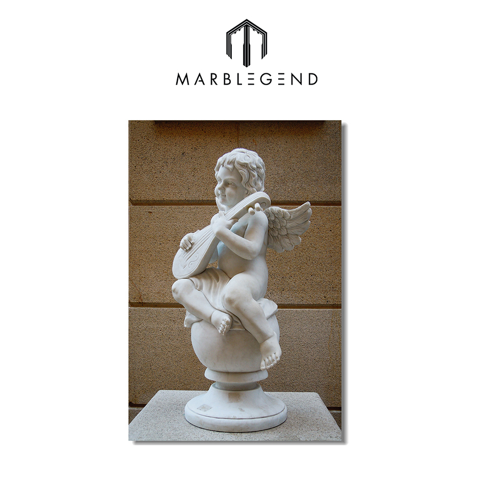PFM Marble Decorative Garden Stone Eagle Sculpture