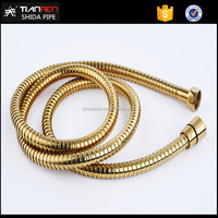 Tian Ren 304 stainless steel plated gold plumbing flexible shower water hose