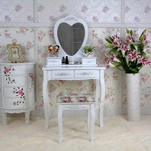 Wholesale Antique Design Of Girls Wooden Dressing Table dresser with chair