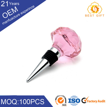 reliable quality wine parts with crystal pink stopper