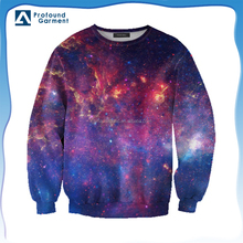 Custom 3D printing sweatshirt sublimaiton galaxy printing pullover crewneck sweatshirt for women