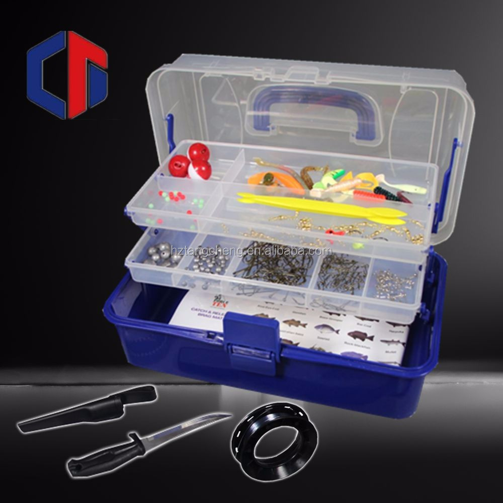 High Quality 300PC Complete Fishing Tackle Kit Fishing Lure Tool Kit With Fashion Soft Plastic