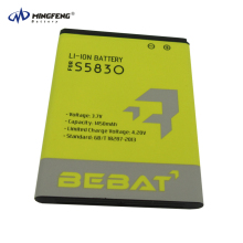 Factory price 3.7v 1450mAh li-ion battery EB464358VU for samsung galaxy s5830