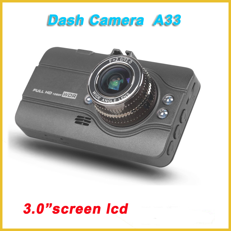 "car dvr dash camera 1080 A33, NTK96223 dash cam pro, cam dash with 3.0""inch TFT"