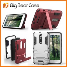 Shockproof stand mobile phone case for motorola moto x play