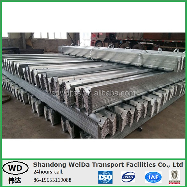Galvanized Highway Road Divider W Beam Guardrails