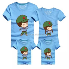manycolor heat transfer for cotton family T shirt, colorful picture heat transfer for cotton family T shirt