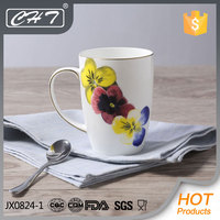 Wholesale 400ml high quality ceramic coffee mug with in-glazed decoration